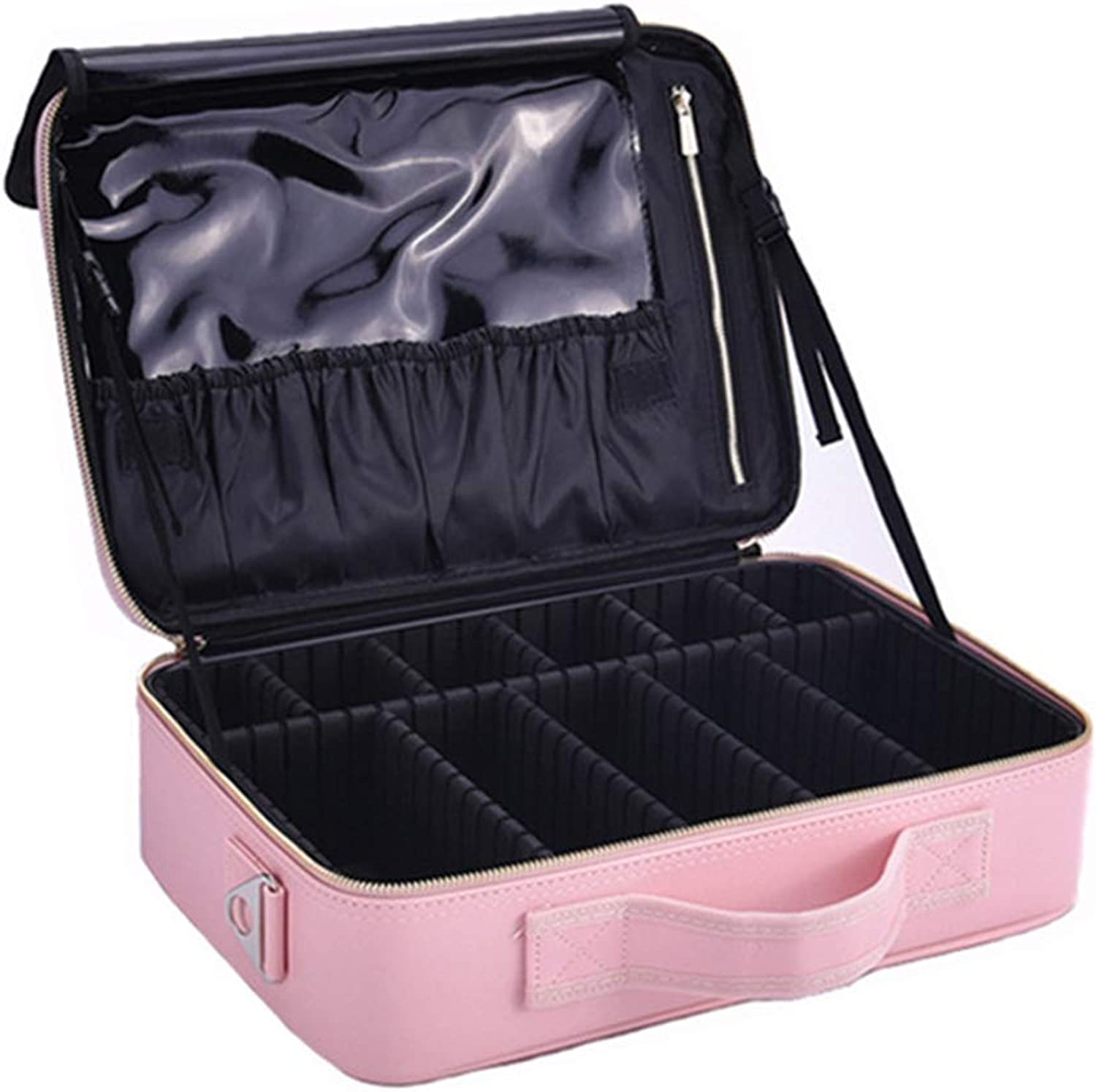 3c29c18c35c3f Kosmetiktasche Detachable Partition Professional Portable Portable Portable  Three-Layer Gro szlig -Kapazit auml t wasserdichte Makeup Bag f uuml r Men  ...