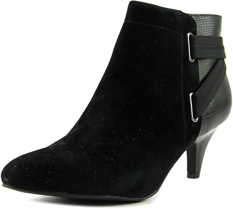 Alfani Womens Vandela2 Leather Closed Toe Ankle Fashion Boots, Black, Size 11.0