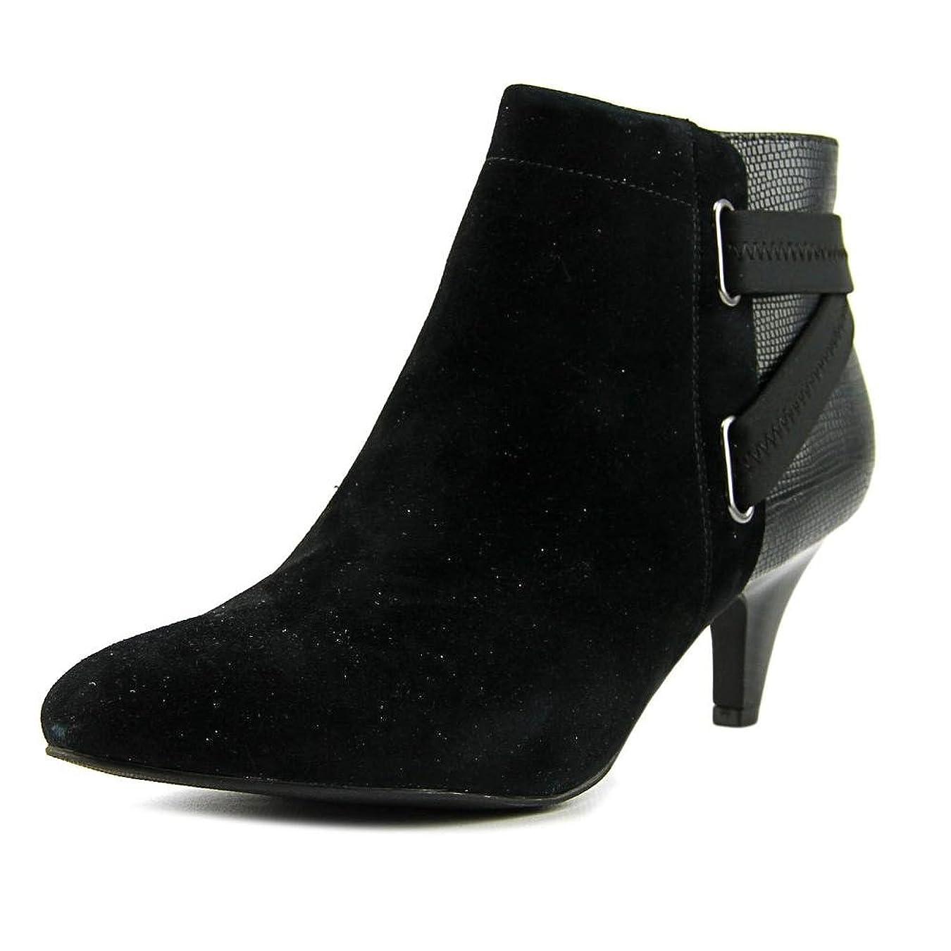 年金ラブローブAlfani Womens Vandela2 Closed Toe Leather Fashion Boots, Black, Size 11