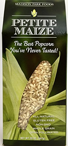 Madison Park Foods Petite Maize® Single Lot Gourmet Popping Corn - Gluten-free, Open Pollinated, All Natural, Non-GMO, High Fiber & Low Fat, 20 Ounce Gourmet Box