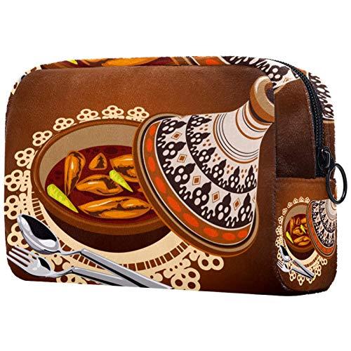 KAMEARI Kosmetiktasche Sambal Huhn Tajine serviert mit Oliven Topf Große Kosmetiktasche Organizer Multifunktionale Reisetasche