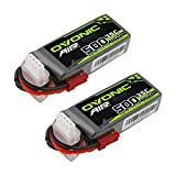 Ovonic 11.1V 500mAh 3S 35C Lipo Battery with JST Plug for RC Car Boat Truck Heli Airplane Quadcopter Helicopter Multi-Motor Hobby DIY Parts 2 Pcs