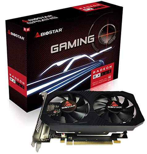 Biostar Radeon RX 560 4GB GDDR5 128-Bit DirectX 12 PCI Express 3.0 DVI-D Dual Link, HDMI, DisplayPort and Dual Cooling Fan Gaming Edition VA5615RF41-TBMRA-BS2