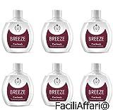 6 Deodoranti Breeze Squeeze Deodorante Profumato Patchouly per il corpo