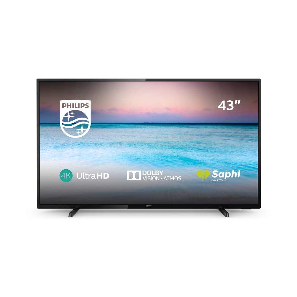 Philips 43PUS6504/12 43-Inch 4K UHD Smart TV with HDR 10+, Dolby ...