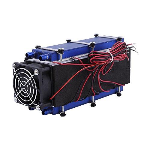 Hilitand TEC1-12706 Thermo-elektrische koelbox, DC12 V, 576 W, Peltier systeem met 8 chips, halfronde koellichaam kit, luchtkoeler
