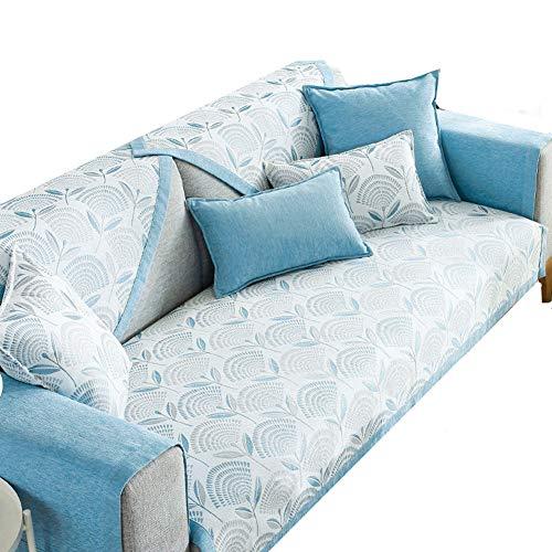 jingxiaopu Fundas Sofá Protector para El Sofa Funda Elastica Sofa Fundas Butaca Elasticas Foulard para Sofas Funda Cojin Sofa Funda Asiento Sofa 70X120,Blue Flower