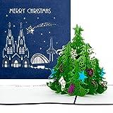 Pop tarjeta de Up Árbol | Colonia – Merry Christmas Azul, tarjeta de Navidad, Árbol de Colonia Köln, Pop Up tarjeta en Navidad, 3d Tarjetas, Advent, Christmas Card Cologne, Christmas Greeting Card