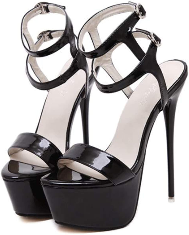 Womens Open Toe Ankle Strap High Stiletto Heel Platform Pump Sandal