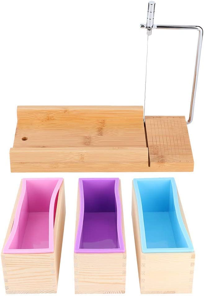 Wooden Box Set Nippon regular agency Limited time cheap sale 1200ml Manual Making Cutter Silic Soap Mold
