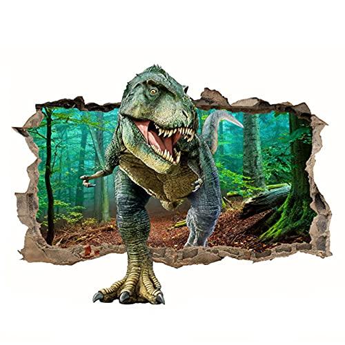 Vinilos Dinosaurios Infantiles Pared,Vinilos Dinosaurios Pared,Pegatinas de Pared de Dinosaurios,Adhesivos de Pared Decorativos Niño,Pegatinas de Dinosaurios para Niños,Pegatinas de Pared 3d (A)