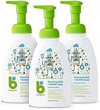 Babyganics Foaming Dish & Bottle Soap, Pump Bottle, Fragrance Free, 16oz, 3 Pack, Packaging May Vary