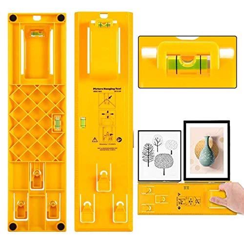 SYSAMA Bilder-Aufhänge-Werkzeug, tragbarer Rahmen Aufhänger Werkzeug Kunststoff Fotorahmen Lineal zur Markierung der Position