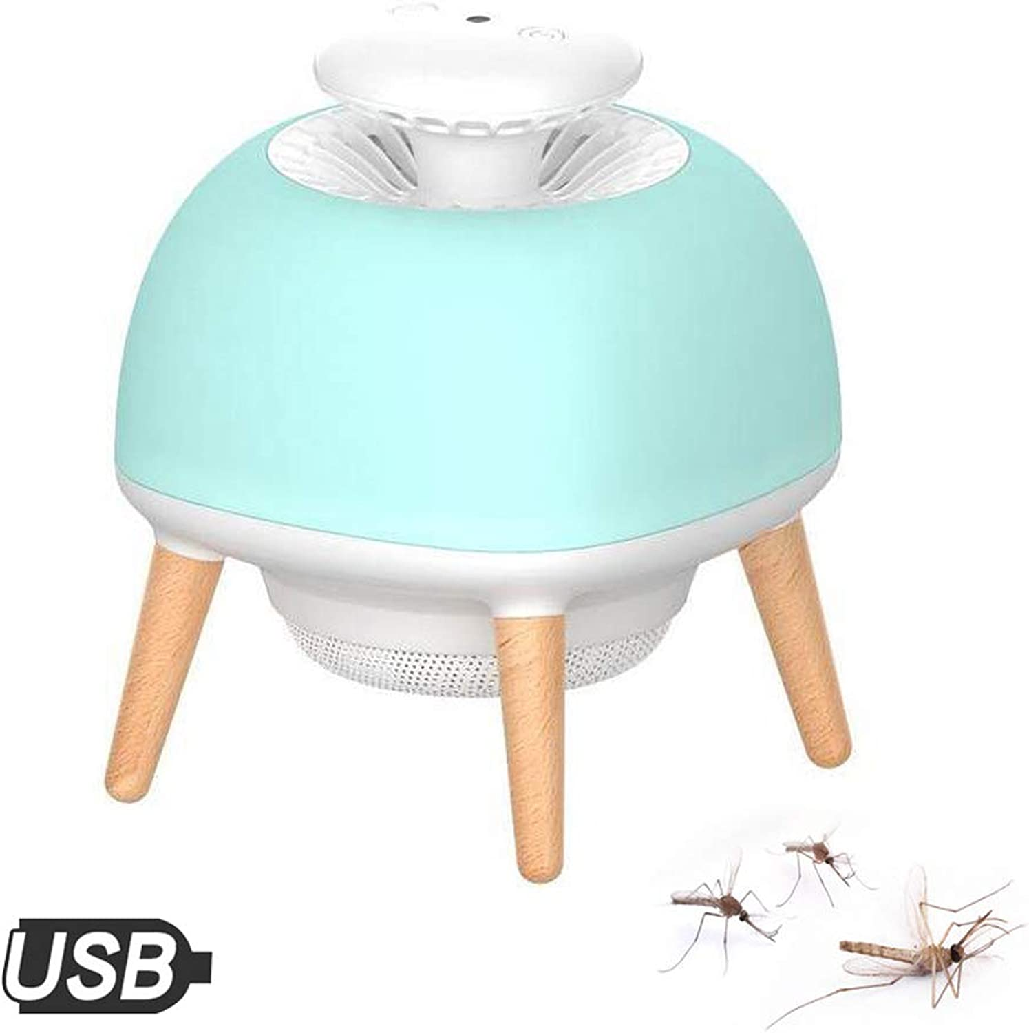 3 in 1 Mosquito Killer Lamp USB,LED Night Light,Insect Suction Trap,for Indoor,Outdoor, Home,Kitchen,Office,Green