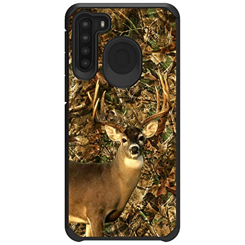 MINITURTLE Compatible with Samsung Galaxy A21 (2020) Slim Fitted Dual Layer Protective Case Cover [Defender] - Deer Hunting Camo