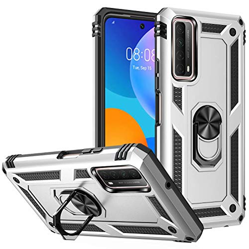 FTRONGRT Case for Xiaomi Poco F3, Rugged and Shockproof,with Mobile Phone Holder, Cover for Xiaomi Poco F3-Silver