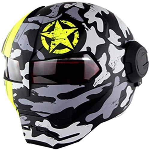 ZHXH Adulto flip cara completa casco de moto casco completo
