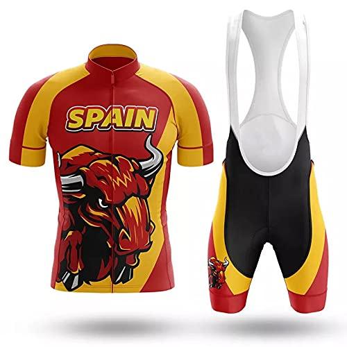 Traje de Ciclismo para Hombre de Equipos Profesionales. Culotte y Maillot. con 12D Gel Pad. para MTB Spinning Equipacion Bicicleta de Carretera