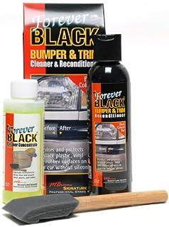 Forever Black por Siempre los Productos de Cuidado de Automóviles para Siempre Negro Parachoques y molduras Kit (Nuevo fórmula Mejorada y un tamaño más Grande)