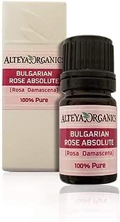 Alteya Organics Bulgarian Rose Absolute (100% PURE Rose Oil) - 5ml, From Rosa Damascena Bulgaria, Authentic, Certified