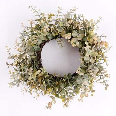 Artificial Green Leaves Wreath mart We OFFer at cheap prices 11 Door inches Front Eucal