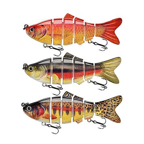 ods señuelo señuelo de pesca para bajo 6 segmentos multi articulado Swimbait lento hundimiento duro señuelo pesca Tackle Kit (kit 2)