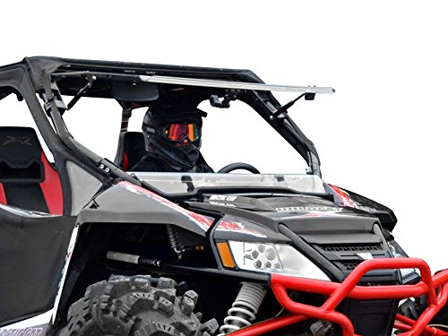 SuperATV Scratch Resistant 3-in-1 Flip Windshield for 2012-2018 Arctic Cat Wildcat 1000/4 1000   USA Made   1/4' Thick Polycarbonate 250X Stronger than Glass   Set to Open, Vented, or Closed!