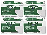 Curad Alcohol Prep Pads , Thick Alcohol Swabs (Pack of 400) - CUR45585RB
