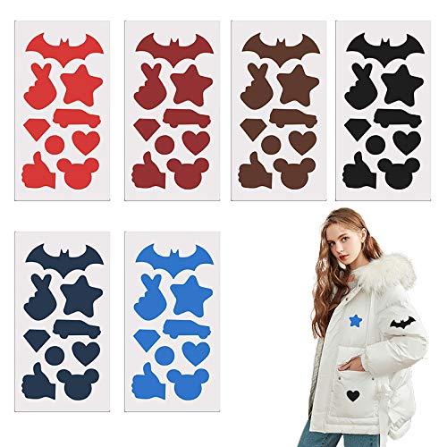 Hongfago Selbstklebende Patch Sticker Leder Reparatur Patch, 6 Stück Nylon Patch, 6 Farb-Anzüge, Geeignet für Kleidungslöcher Regenmantel-Rucksäcke Zelt-Schlafsack-Daunenjacke (6 Color)