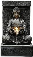 MXCHENアウトドアソーラー仏像、庭像飾り、禅ガーデン仏像のための彫刻家、パティオ、ヤードアートの装飾(色:110V、サイズ:a)