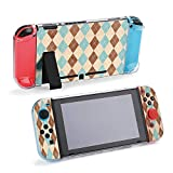 SUPNON Watercolor Blue, Beige and Brown Diamond Compatible with Nintendo Switch Console & Joy-Con Protective Case, Durable Flexible Shock-Absorption Anti-Scratch Drop Design28287