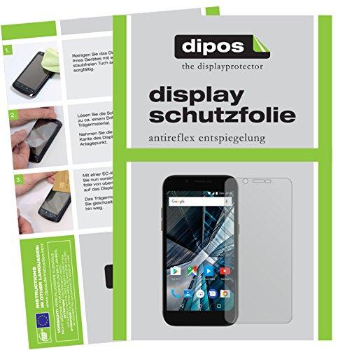 dipos I 2X Schutzfolie matt kompatibel mit Archos 50 Graphite Folie Bildschirmschutzfolie
