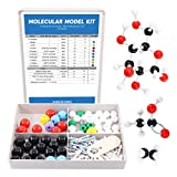 Swpeet 125 Pcs Molecular Model Kit for Inorganic & Organic Molecular Model Teacher and Student Kit - 54 Atoms & 70 Links & 1 Short Link Remover Tool - Science Toys