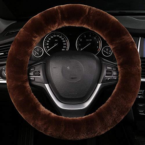 Zuivere wollen auto stuurwiel, winter warme laars, korte pluche cover, lederen wol een stuurwiel cover A3