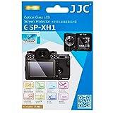 JJC Anti-Scratch Glass Screen Protector LCD Cover for Fujifilm X-H1 Fuji XH1 Camera, Includes Shoulder Screen/Sub-Screen PET Film Protector