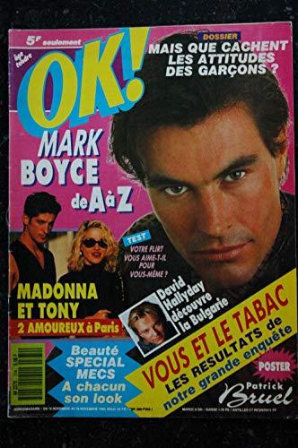 OK ! âge tendre 774 Cover MADONNA ET TONY - David HALLYDAY 1990 novembre