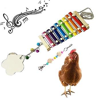 Kpact Chicken Xylophone Toy Rattan Balls Chewing Toys Chicken Feeder Chicken Toys for Hens for Chicken & Chicks & Hens & Parrot Bird for Large Chicken Coops & Duck Coop & Chicken Run