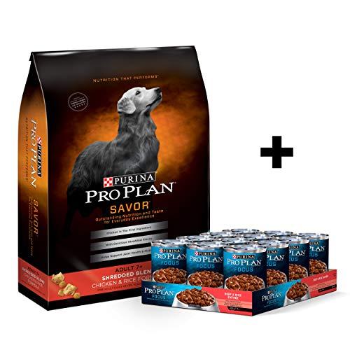 Purina Pro Plan Savor Senior 7+ Dry & Wet Dog Food Bundle