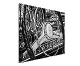 Sinus Art 50x70cm Wandbild Fotoleinwand Bild in Schwarz