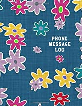 """Phone Message Log: Voice Mail Telephone Record Memo Notebook Tracker Journal Monitor Log Book for Monitoring and Tracking all Telephone Messages and ... use. 8.5""""x11"""" with 120 pages (Phone logbook)"""
