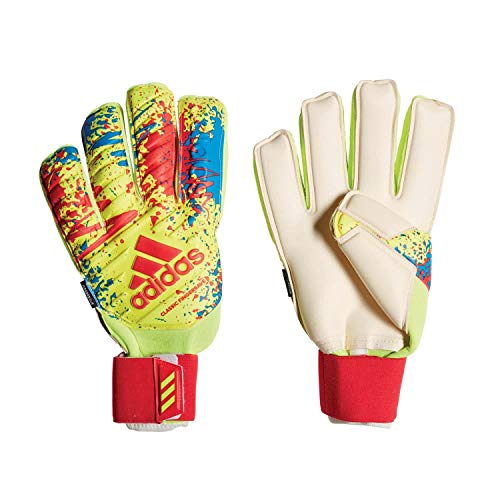 adidas Herren Classic Pro Fingersave, solar Yellow/Active red/Football Blue, 9.5