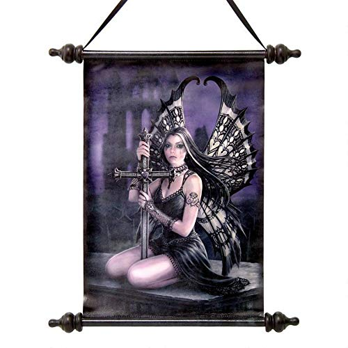 Design Toscano Lost Love Gothic Fairy Canvas Wall Scroll, Full Color