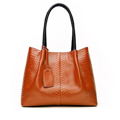 WENMW hoogwaardige Serpentine mobiele handtassen - lederen moderne grote naam vrouwen tas Messenger tas -2 sets van eenvoudige grote tas