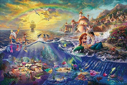 The Mermaid Figure Puzzle Cartoon Anime Puzzle for Adult Children s Educational Toy Puzzle Game(300 Pieces) (WXH1028)