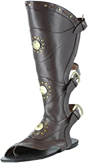 Mens Brown Gladiator Shoes Studded Roman Costume Sandals brown Small (8/9)