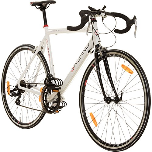 Galano 28 Zoll Rennrad Giro D\'Italia 3 Rahmengrößen 2 Farben, Farbe:Weiss, Rahmengrösse:53 cm