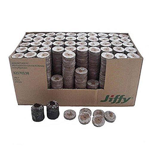 Jiffy - Lote de 7 pellets de cultivo para plantas de jardinería (41 mm, 1000 unidades)
