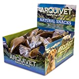 ARQUIVET Expositor 20 unidades Pezuña de ternera rellena de pollo - Snacks naturales para perros - Caja, bolsa de chuches, golosinas, premios, chucherías y recompensas caninas