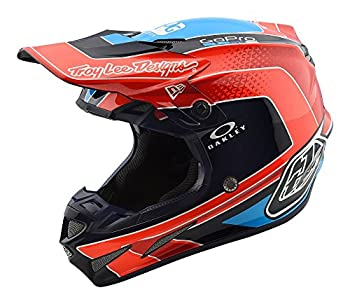 Troy Lee Designs SE4 Carbon Helmet Squadra Team Orange Sm