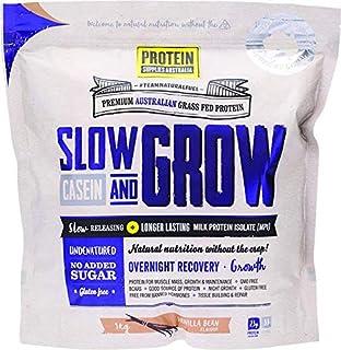 Protein Supplies Australia Slow and Grow Casein Powder, Vanilla Bean 1 kg,, Vanilla Bean 1 kilograms